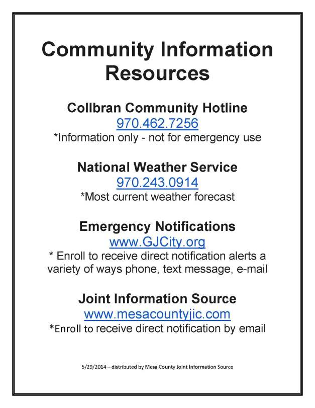 Collbran Community Resources